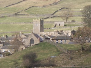 Chapel and Askrigg from south