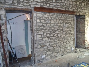 Work starts on the doorways