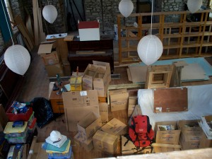 Stuff, stuff and more stuff. All still to be packed.