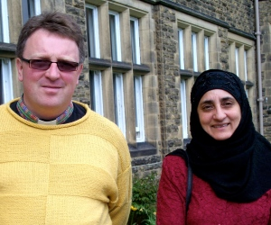 North West Man of the Year 2008, Canon Chris Chivers, and Anjum Anwar MBE, both of Blackburn Cathedral