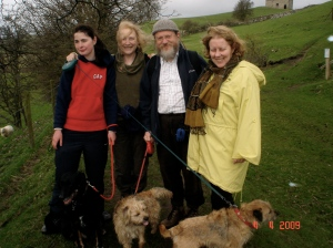Marsaili, Christine, Ian, Julie and dogs on the old railway track